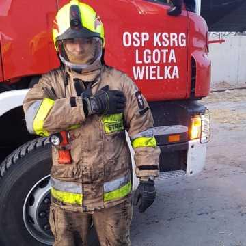Strażacy z Lgoty Wielkiej zbierają pieniądze na zakup pralki i suszarki