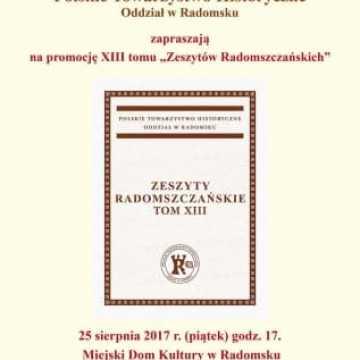 Zeszyty Radomszczańskie – promocja już w piątek