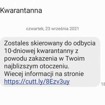 Inspekcja sanitarna ostrzega przed fałszywymi SMS-ami o kwarantannie