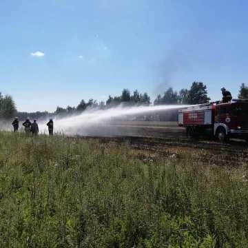 Pożar ścierniska w Barczkowicach
