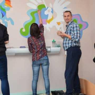 Pomalowali oddział dziecięcy