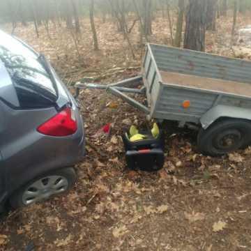 Wyprzedzał kilka samochodów. Stracił panowanie nad pojazdem