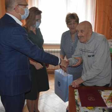 Pan Marian z gminy Kamieńsk świętował 100. urodziny