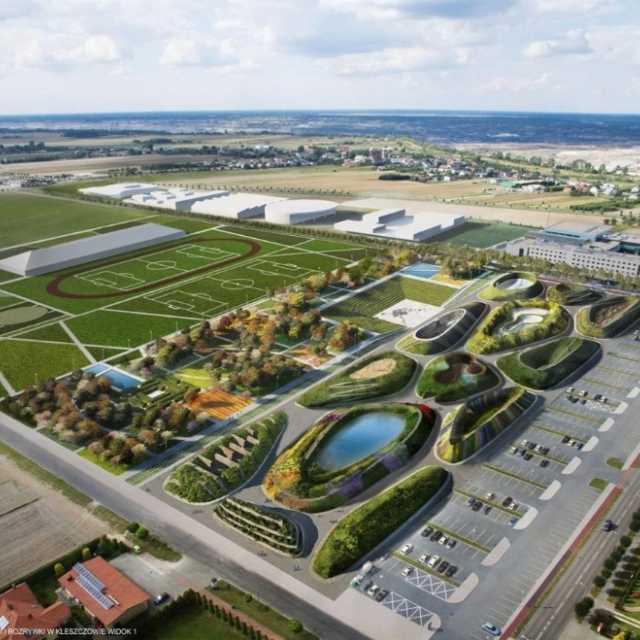 """W gminie Kleszczów szukają firmy, która wykona projekt i kosztorys dla budowy """"Zielonego Serca Kleszczowa""""."""
