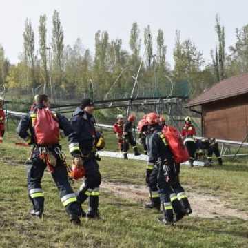 Ćwiczenia ratownicze w Ośrodku Sportu i Rekreacji na Górze Kamieńsk