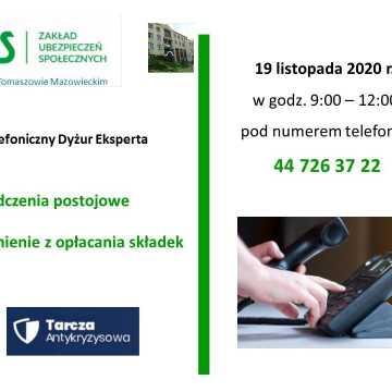 Wsparcie dla przedsiębiorców w ramach Tarczy Antykryzysowej. Dyżur telefoniczny eksperta ZUS