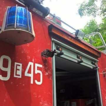 Pożar siana w Borowej