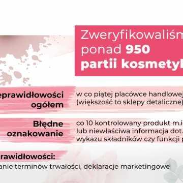 Oznakowanie kosmetyków - kontrola Inspekcji Handlowej