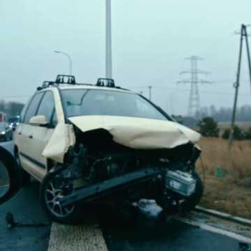 Wypadek na drodze Kamieńsk - Bełchatów