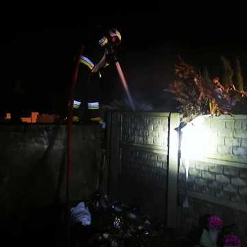 Pożar śmietnika przy cmentarzu w Kamieńsku