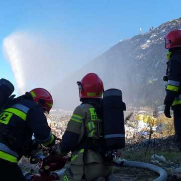 Strażacy z powiatu radomszczańskiego ćwiczyli w Ruszczynie