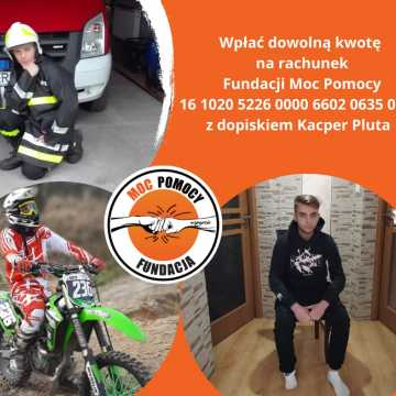 Kacper Pluta - strażak-ochotnik, potrzebuje pomocy w zakupie protezy