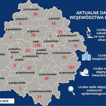 Kolejne zakażenia koronawirusem w województwie łódzkim