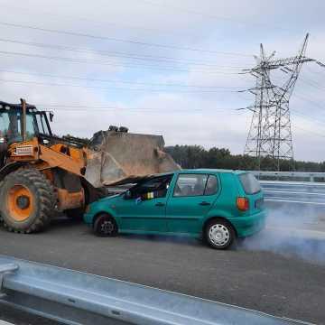 Ranni i rozbite auto na budowanym odcinku węzła A1. Na szczęście to tylko ćwiczenia