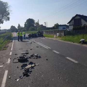 Śmiertelny wypadek na DK 42 w Strzelcach Małych
