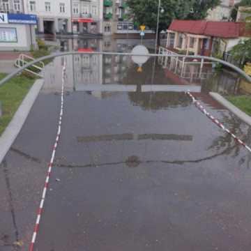 Interwencje straży po porannej burzy w Radomsku  i powiecie