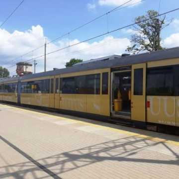 Pociąg Papieski na stacji w Radomsku