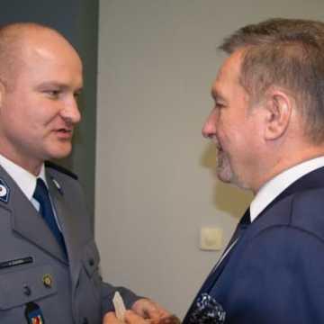 Spotkanie opłatkowe w komendzie policji