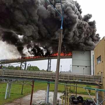 [AKTUALIZACJA] Pożar na terenie Elektrowni Bełchatów