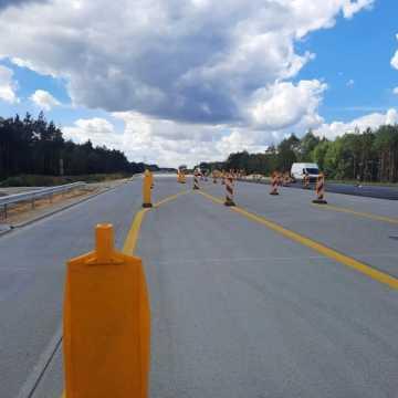 Pojedziemy 12,5 km na nowej jezdni A1 na odc. Tuszyn-Piotrków Tryb.