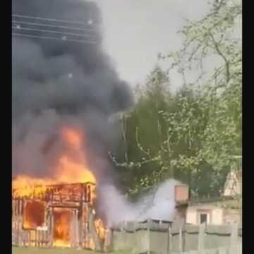 W Ciężkowicach spłonął budynek gospodarczy