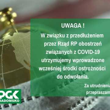 PGK Radomsko: niezbędne sprawy załatwiajmy zdalnie