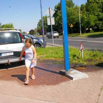 W Radomsku pojawiły się kurtyny wodne