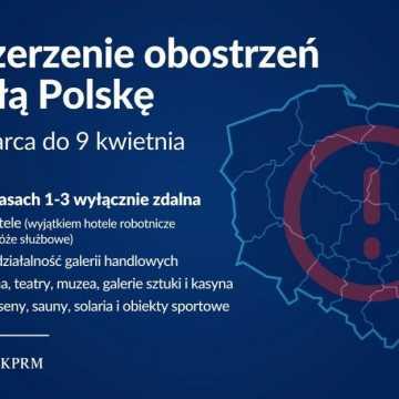 Od 20 marca w całej Polsce rozszerzone zasady bezpieczeństwa